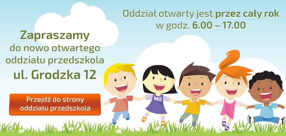 Przejdź do strony oddziału przedszkola ul. Grodzka 12
